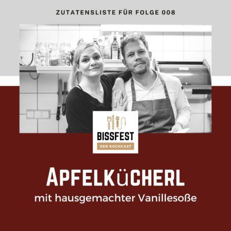 Rezept: Apfelkücherl mit Vanillesoße