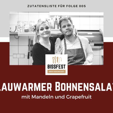 Rezept: Lauwarmer Bohnensalat mit Mandeln und Grapefruit