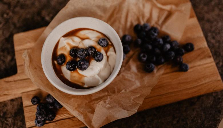 Bissfest - Der Kochcast, Dessert, Vegan, Blaubeer Cheesecake, Cheesecake, Podcast, Rezept