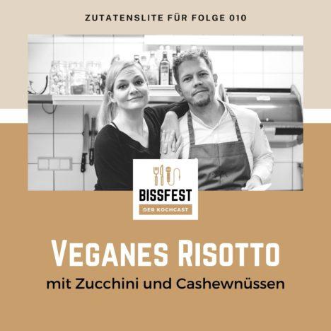 Rezept: Veganes Risotto mit Zucchini und Cashew