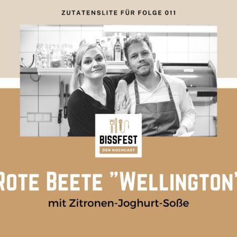 """Rezept: Rote Beete """"Wellington"""" mit Zitronen-Joghurt-Soße"""