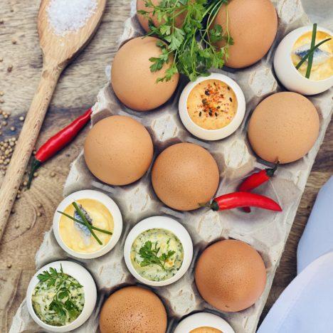 Einkaufsliste: Deine Zutaten für Folge 020 – Dreierlei gefüllte Eier