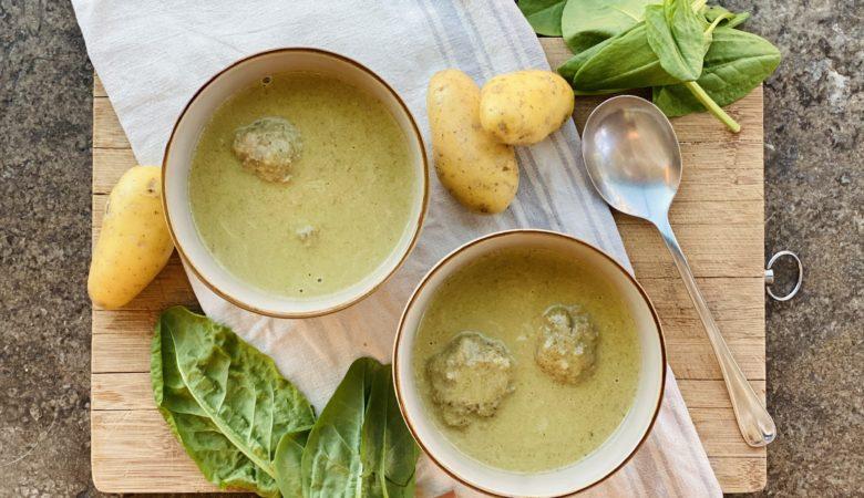 Sauerampfer, Kartoffeln, Sauperampfersuppe, BISSFEST - Der Kochcast, Rezept