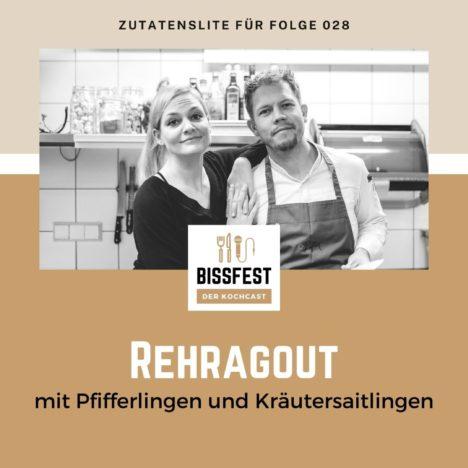 Rezept: Rehragout mit Kräutersaitlingen und Pfifferlingen