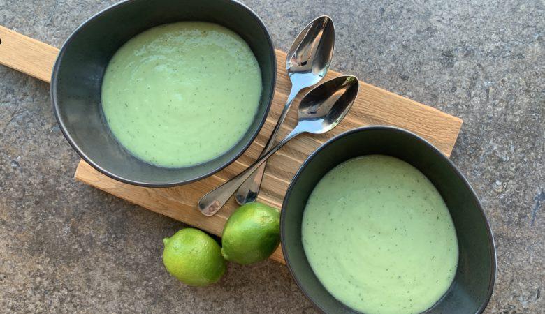 Rezept, vegane Gurkenkaltschale, Suppe, Gurke, Suppe mit Avocado, BISSFEST, Bissfest - Der Kochcast