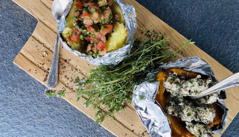 Ofenkartoffeln, Ofenkartoffeln vom Grill, BBQ, Rezept, Bissfest, Kochcast, Essen, Bissfest - Der Kochcast