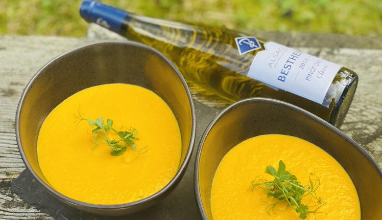 Rezept, Suppe, Karottensuppe, Karottensuppe mit Ingwer, Karotten-Ingwer-Suppe, BISSFEST, Bissfest - Der Kochcast