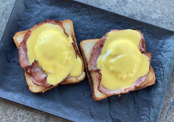 Eggs Benedict, Eier, Frühstück, Bissfest, Kochcast, Bissfest - Der Kochcast, Podcast, Rezept, Menü fürs erste Date,